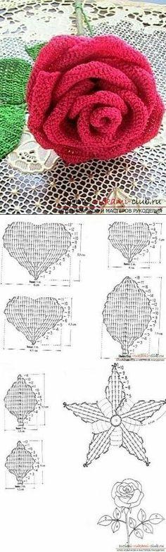 Watch The Video Splendid Crochet a Puff Flower Ideas. Wonderful Crochet a Puff Flower Ideas. Appliques Au Crochet, Débardeurs Au Crochet, Crochet Motifs, Crochet Diagram, Thread Crochet, Love Crochet, Irish Crochet, Crochet Crafts, Crochet Projects