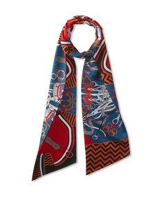 Hermès Women's Silk Maxi Twilly, Red/Blue/Black, http://www.myhabit.com/redirect/ref=qd_sw_dp_pi_li?url=http%3A%2F%2Fwww.myhabit.com%2Fdp%2FB00ZBQT75W%3F
