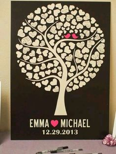 Items similar to Love Birds Wedding Guest Book Alternative,Wood Wedding Guest Book,Tree Wedding,Wedding Tree Custom Guest hearts on Etsy Wedding Tree Guest Book, Guest Book Tree, Tree Wedding, Wedding Signs, Wedding Cards, Diy Wedding, Rustic Wedding, Wedding Invitations, Wedding Blue
