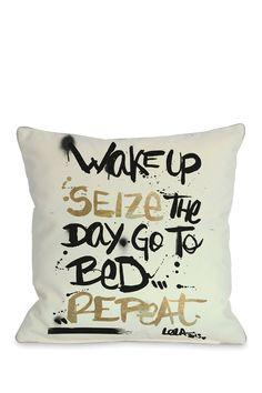 One Bella Casa Seize the Day Pillow