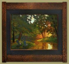 """Lazy Evening""   Jan Schmuckal   Dard Hunter Studios Frame   Arts and Crafts   Craftsman   Bungalow"
