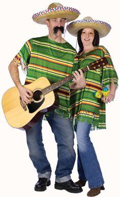 Serape & Sombrero Adult Costume   Mexican Serape Costume Set
