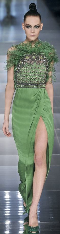 Valentino 2009 - green and black dress