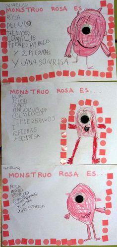 Mis cositas de infantil: MONSTRUO ROSA Una bona proposta per treballar les descripcions. P5. Moltes possibilitats