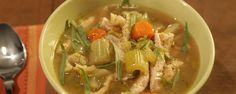 This turkey stew is a delicious dish for a cold day!    with spaetzle (dumplings)