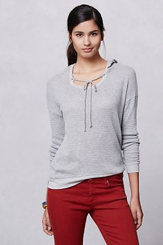 Weekender Hooded Pullover  #anthropologie