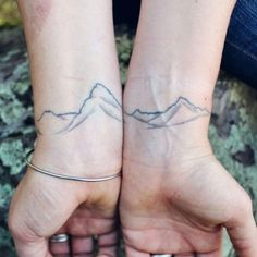 This looks really cool #mountains#tattoo#wristtattoo