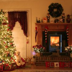 christmas trees and fireplaces | Spode Christmas Tree Fireplace Decoration - It is 3 inch widex4 inch ...This is what I want to put in the living room for a fireplace.  The franklin stove inserted into the hearth but you still have a mantle and a hearth on the floor that is raised up.  Maybe not brick but I love this.