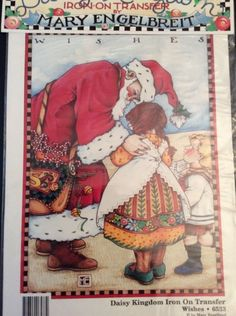 New Mary Engelbreit Wishes Iron On Transfer Daisy Kingdom Vtg Santa Children Mary Christmas, Christmas Wishes, Christmas Crafts, Bloom Where Youre Planted, Iron On Letters, Mary Engelbreit, Santa Sleigh, Love To Shop, Iron On Transfer