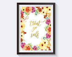 Wall Art Treat Yo Self Digital Print Treat Yo Self Poster Art Treat Yo Self Wall Art Print Treat Yo Self  Wall Decor Treat Yo Self - Digital Download #homedecorations #wallprints #giftforhim #giftforher