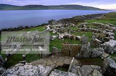 Remains of Iron Age dwelling houses around Broch of Gurness, Aikerness, dating from circa 200 BC, settlement from Iron age and Pictish period, Mainland, Orkney Islands, Scotland, United Kingdom, Europe