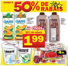 Coupons et Circulaires: 1,99$ OASIS - LAIT CHOCOLAT 2 L - YOGOURT 750 G - ...