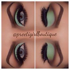 Soft Minty Brown Eyes