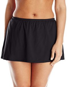 Introducing 24th Ocean Womens PlusSize Solid Skirted Bikini Bottom Black  18W. Get Your Ladies Products 4d75ed1a092b7
