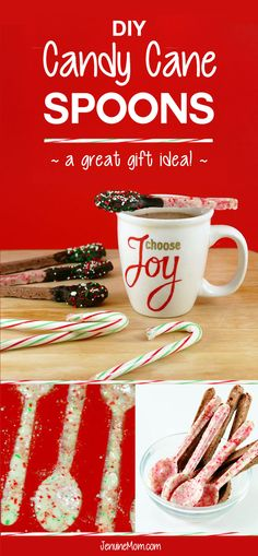 DIY Candy Cane Spoons | Great DIY Christmas Gifts! | JenuineMom.com