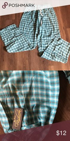 Plaid loungewear bottoms This is a pair of brand new with tags plaid flannel bottoms size medium they have elastic waist with drawstring and are 100% cotton. Intimates & Sleepwear Pajamas