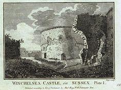 "Grose's Antiquities of England - ""WINCHELSEA CASTLE IN SUSSEX"" - Copper Engraving - c1885 Romney Marsh, East Sussex, Antiquities, Rye, Castles, Britain, Buildings, Copper, England"