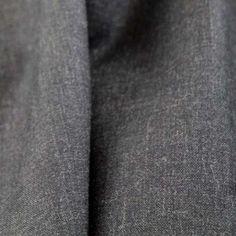 Italian Tropical Wool Broadcloth - Heathered Charcoal - Gorgeous FabricsGorgeous Fabrics