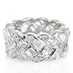 Victoria Wieck 2.07ct Absolute™ Pavé and Baguette Chevron Eternity Band Ring at HSN.com.
