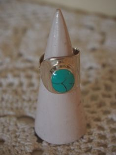 A+gorgeous+handcrafted+silver+and+turquoise+adjustable+ring.+Hand+made+on+the+island+of+Bali Bali, Turquoise, Adjustable Ring, Island, Rings, Silver, Jewelry, Jewlery, Jewerly