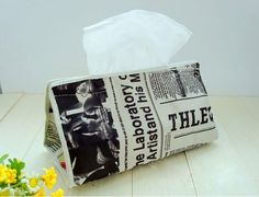 Old Newspapers Tissue Boxes $9.99