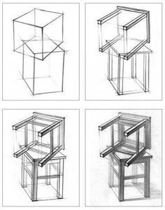 Creative Draw A Monster Ideas. Exacting Draw A Monster Ideas. Basic Sketching, Basic Drawing, Technical Drawing, Drawing Drawing, Interior Design Sketches, Industrial Design Sketch, Sketch Design, Perspective Drawing Lessons, Perspective Art