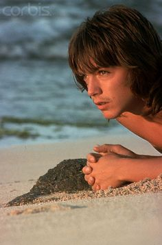 David Cassidy Laying in the Sand