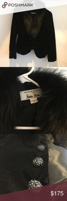 VICTOR COSTA for NEIMAN MARCUS from 1980s Cool jacket with faux fur lining. Neiman Marcus Jackets & Coats