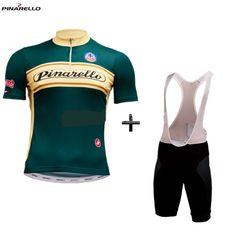 #Pinarello #retro groen #wielerset #fietskleding