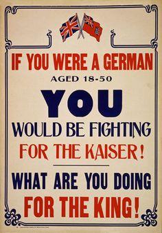 WA92 Vintage WWI British Canadian World War Recruitment Poster WW1 ...