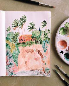 Beautiful art journal page artist we love in 2019 art inspo, art, watercolo Art Journal Pages, Art Journals, Journal Ideas, Illustrations, Illustration Art, Guache, Art Hoe, Art Sketchbook, Sketchbook Inspiration
