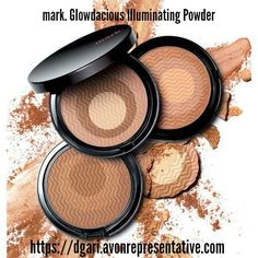 mark. Glowdacious Illuminating Powder - Get your glow on, gorgeously! Combines bronzer and highlighter for a shimmery, golden glow. $13 https://www.avon.com/product/mark-glowdacious-illuminating-powder-38863?rep=dgari #avonmark #illuminating #powder #bronzer #highlighter #makeup #beauty
