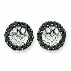 14k White Gold Black Diamond Earring Jackets. Gold Wt- 3g. Carat Wgt- 1.17ct. Jewelry Pot. $634.99. All Genuine Diamonds, Gemstones, Materials, and Precious Metals. Fabulous Promotions and Discounts!. 100% Satisfaction Guarantee. Questions? Call 866-923-4446. Your item will be shipped the same or next weekday!. 30 Day Money Back Guarantee