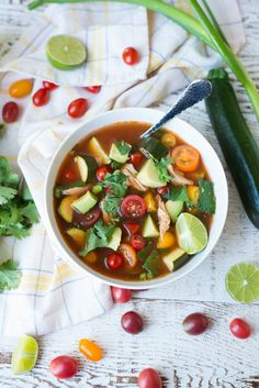 13. Slow Cooker Farmer's Market Mexican Chicken Soup #greatist http://greatist.com/eat/whole30-recipes-you-can-make-in-a-crock-pot