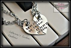 Best Friend Quote  Heart Necklace set  by CatsCustomCreations, $35.00 @Kaitlyn Hocker WE NEED THESE!!!