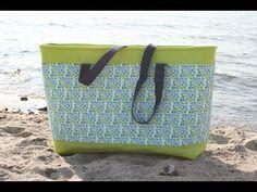 Strandtasche Eurybia von Tina Blogsberg nähen - Freebook - YouTube