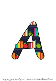 "This is a letter set, with a coloured stars pattern, consisting of:- A-Z in capital letters- a-z in lower case letters- 0-9- ! ? ... , . """"- + x + = There is one letter/ number per page. The symbols/ punctuation are grouped to save on paper.All you have to do is print out the pages you need to write out any heading you like."