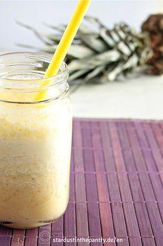 Leckerer Ananas Smoothie mit Ingwer und Zitrone!