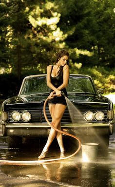 hot girl cars, sexi, lincoln continent, auto, beauti, hot rod, car babe, hot cars and girls, car wash