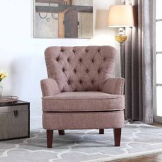 amazonsmile nhi express 9200516br button tufted chair not applicable 31 w x