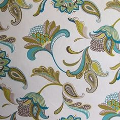 Savannah Pebbletex 509-Surf Floral Drapery Fabric. 12.95 per yard (home dec)