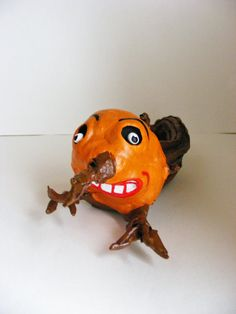 Pumpkin Stem Goblin Halloween Folk Art Doll by seasonsart1031, $35.00