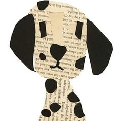 Dalmatian collage, this site has collages of every dog & cat imaginable. Paper Crafts For Kids, Projects For Kids, Cat Applique, Newspaper Art, Preschool Art, Animal Crafts, Dog Crafts, Art Classroom, Art Activities
