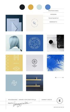 Moodboard and color palette for Gambit Media. Corporate Branding, Business Branding, Logo Branding, Logo Design, Identity Design, Graphic Design, Brand Identity, Design Color, Brand Design