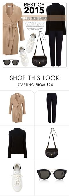 """Best of 2015: White Sneakers"" by stellaasteria ❤ liked on Polyvore featuring HUGO, M&S Collection, Helmut Lang, Chloé, Isabel Marant and CÉLINE"