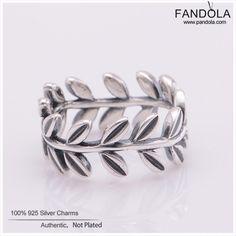 Wedding Ring 925 Sterling Silver Laurel Wreath Rings for Women Pandulaso Jewelry Free Shipping