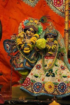 """Yogis try to concentrate their minds upon the form of the Supersoul, Vishnu, within the heart, but this same objective is easily achieved when one's mind is absorbed in the Deity worshiped in the temple. In every temple there is a transcendental form of the Lord, and one may easily think of this form. By seeing the Lord during ärati, by offering bhoga and by constantly thinking of the form of the Deity, one becomes a first-class yogi."" SB 6.2.41p"