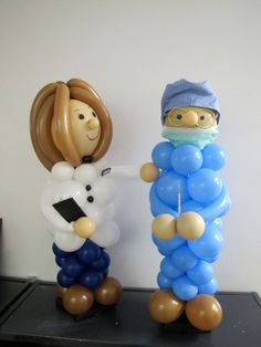 Balloon Buddies can be made to match the guest of honor - bjl