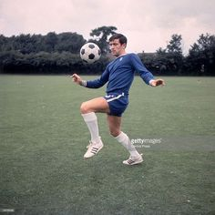 British footballer Terry Venables of Chelsea in training