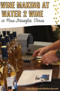 This boutique winery in New Braunfels has a program where you can make and bottle your own wine. New Braunfels Texas, Make Your Own Wine, Homebrewing, Texas Travel, Wine Making, Boutique, Country, Bottle, Water